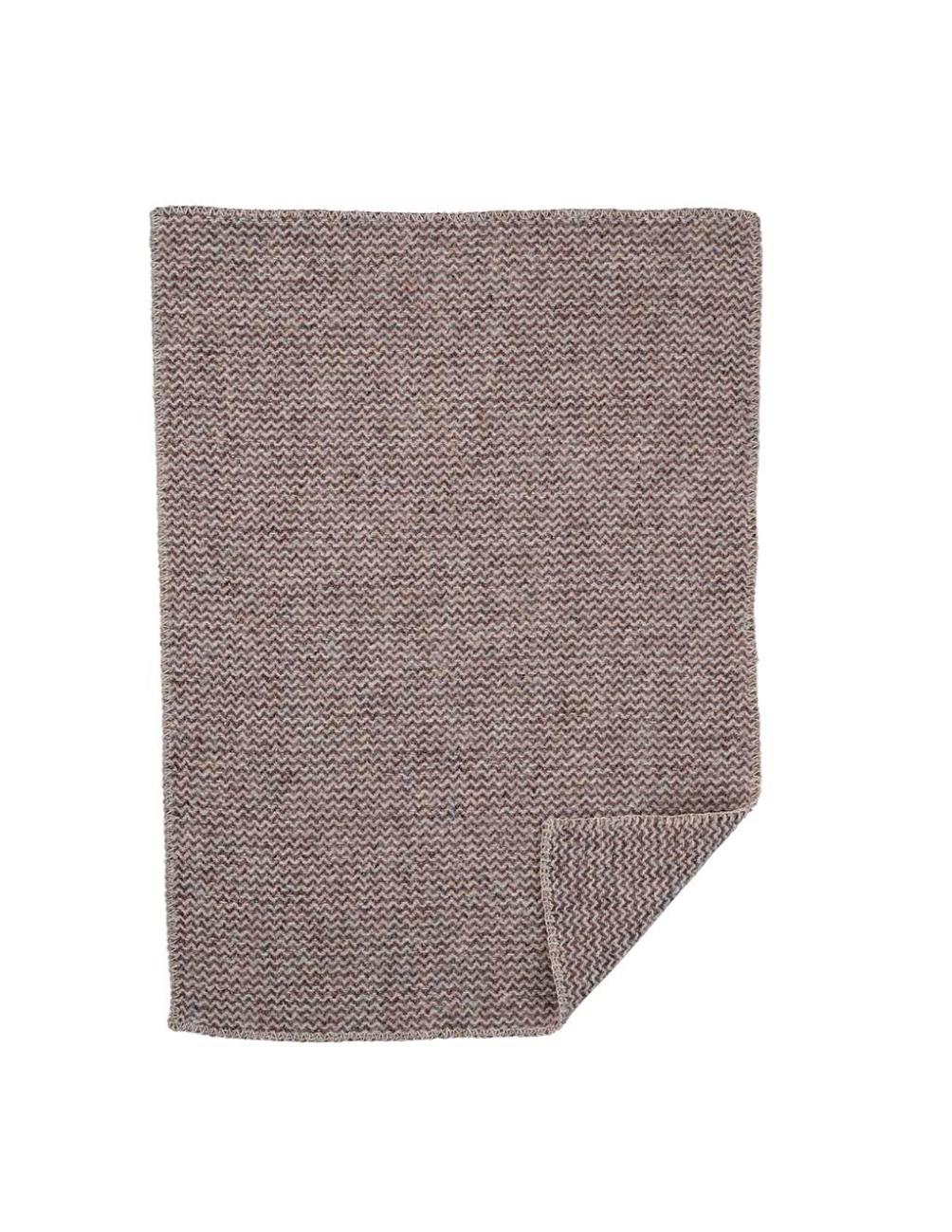 Wave Baby Natural Brown Wool Blanket