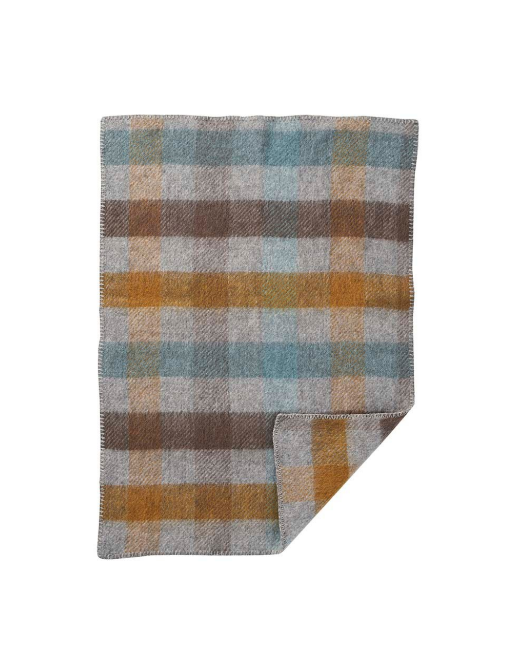 Gotland Baby Multi Turqouise Wool Blanket