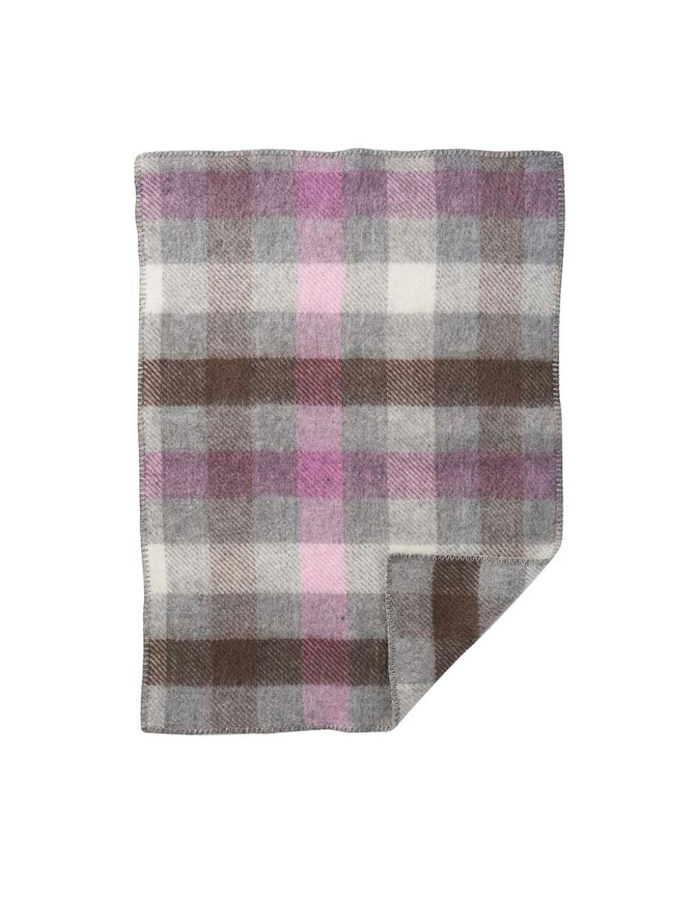 Gotland Baby Multi Pink Wool Blanket