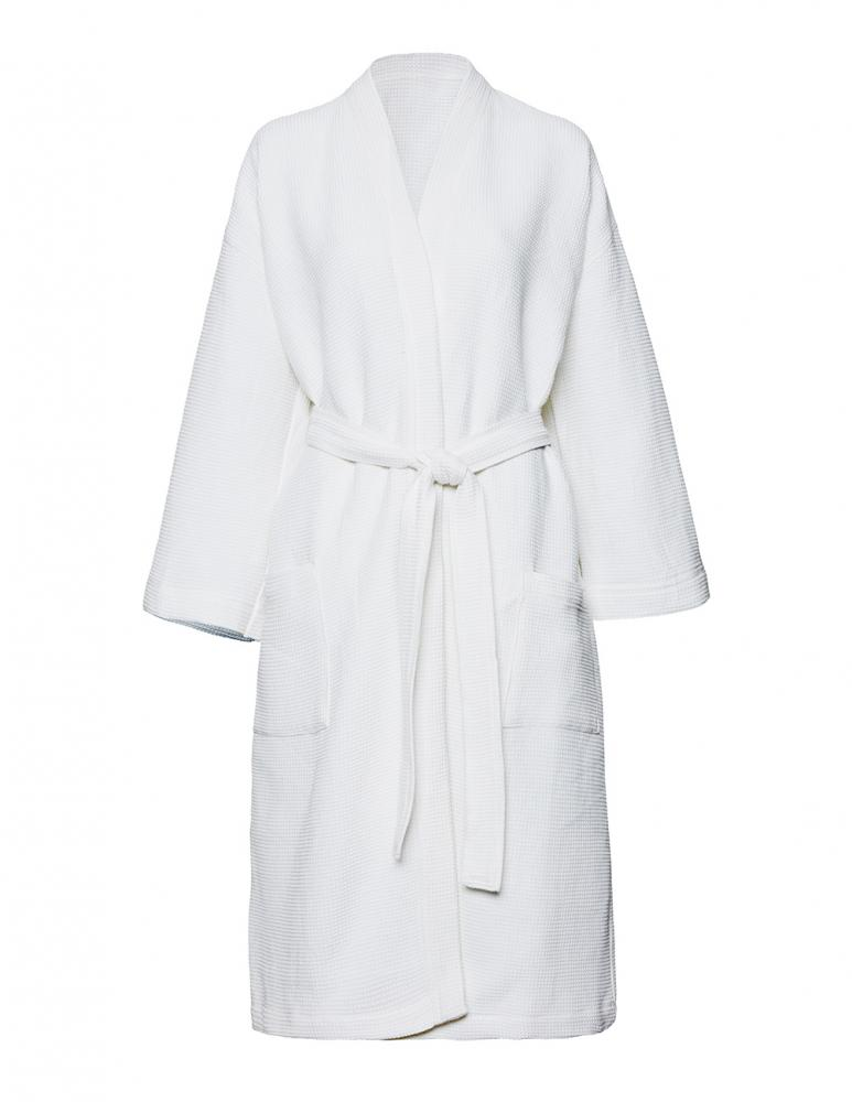 Waffled Bathrobe Ekholmen White L/XL