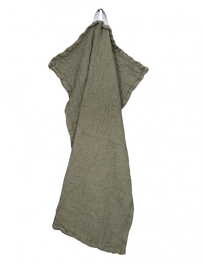 Waffled Towel Vejby Green 40x60cm