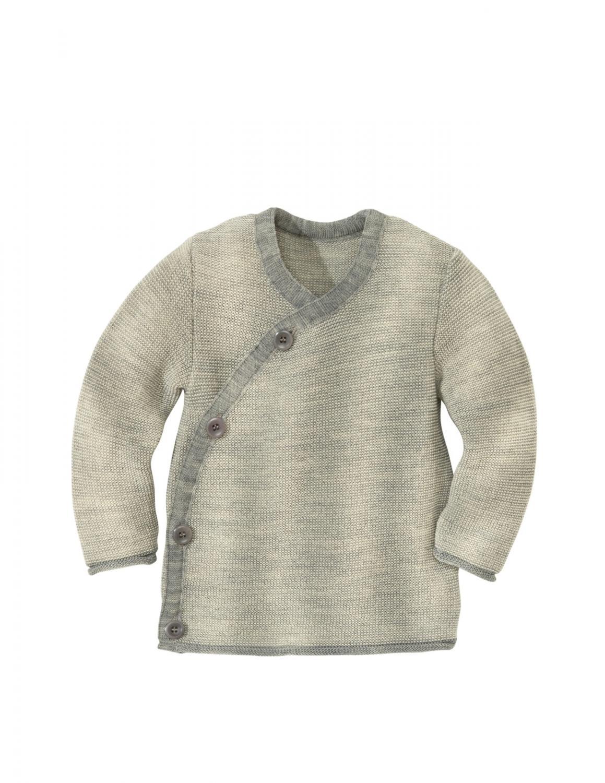 Grey Melange Wrap Jacket