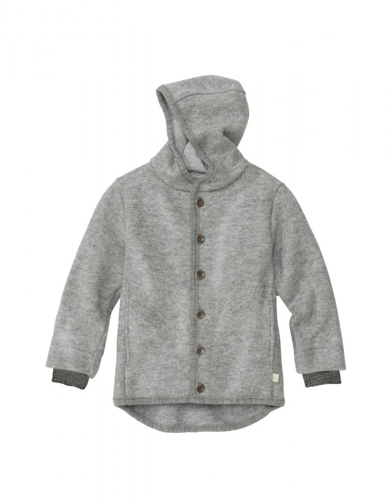 Grey Boiled Wool Jacket