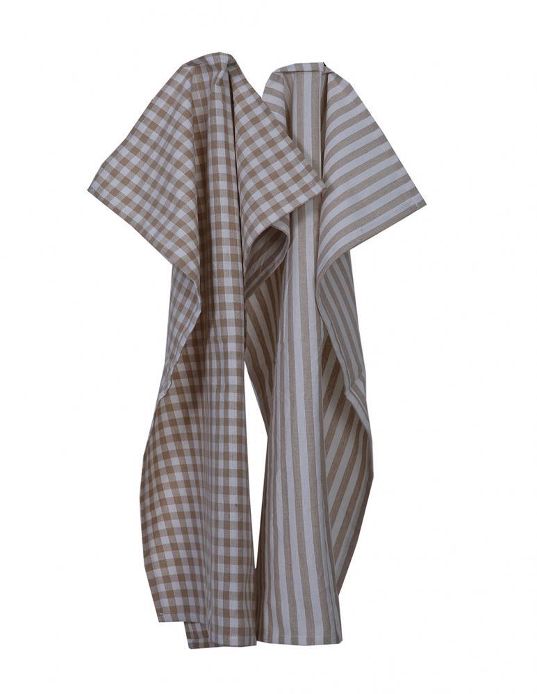 Kitchen towel Sand/White Pattern 2-pack