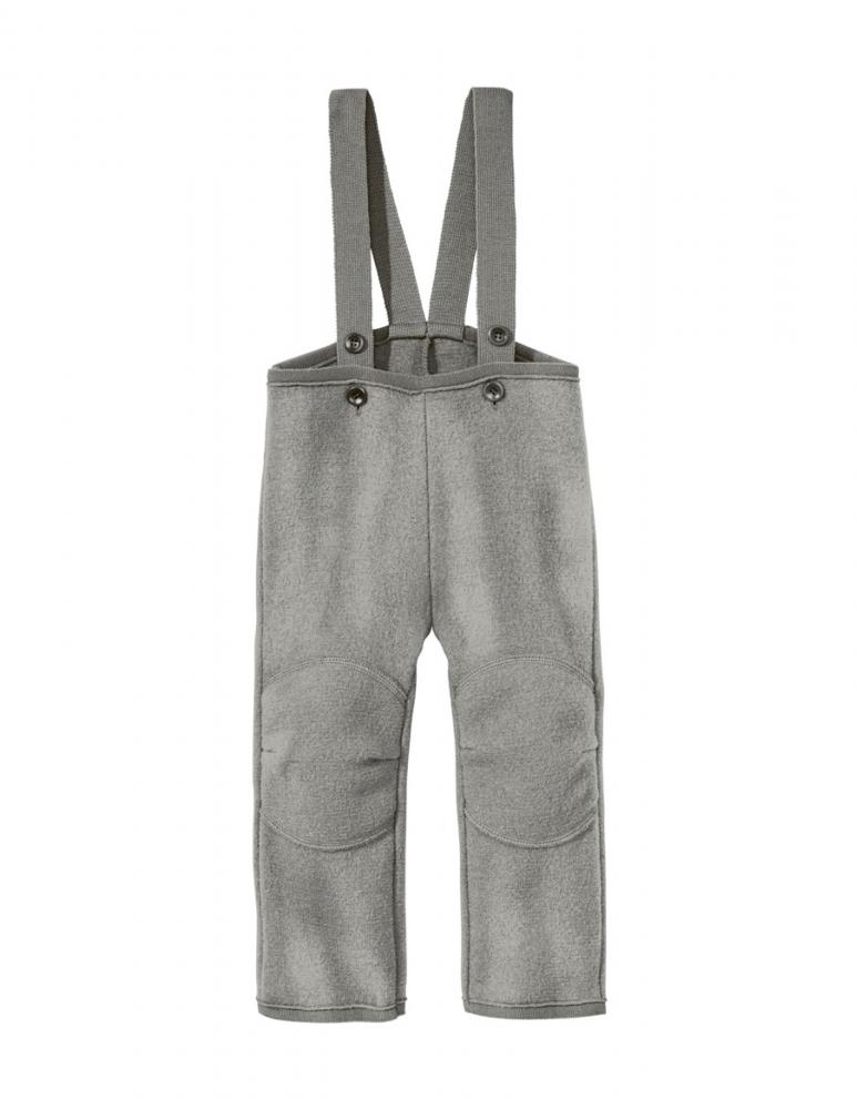 Grey Boiled Wool Trousers