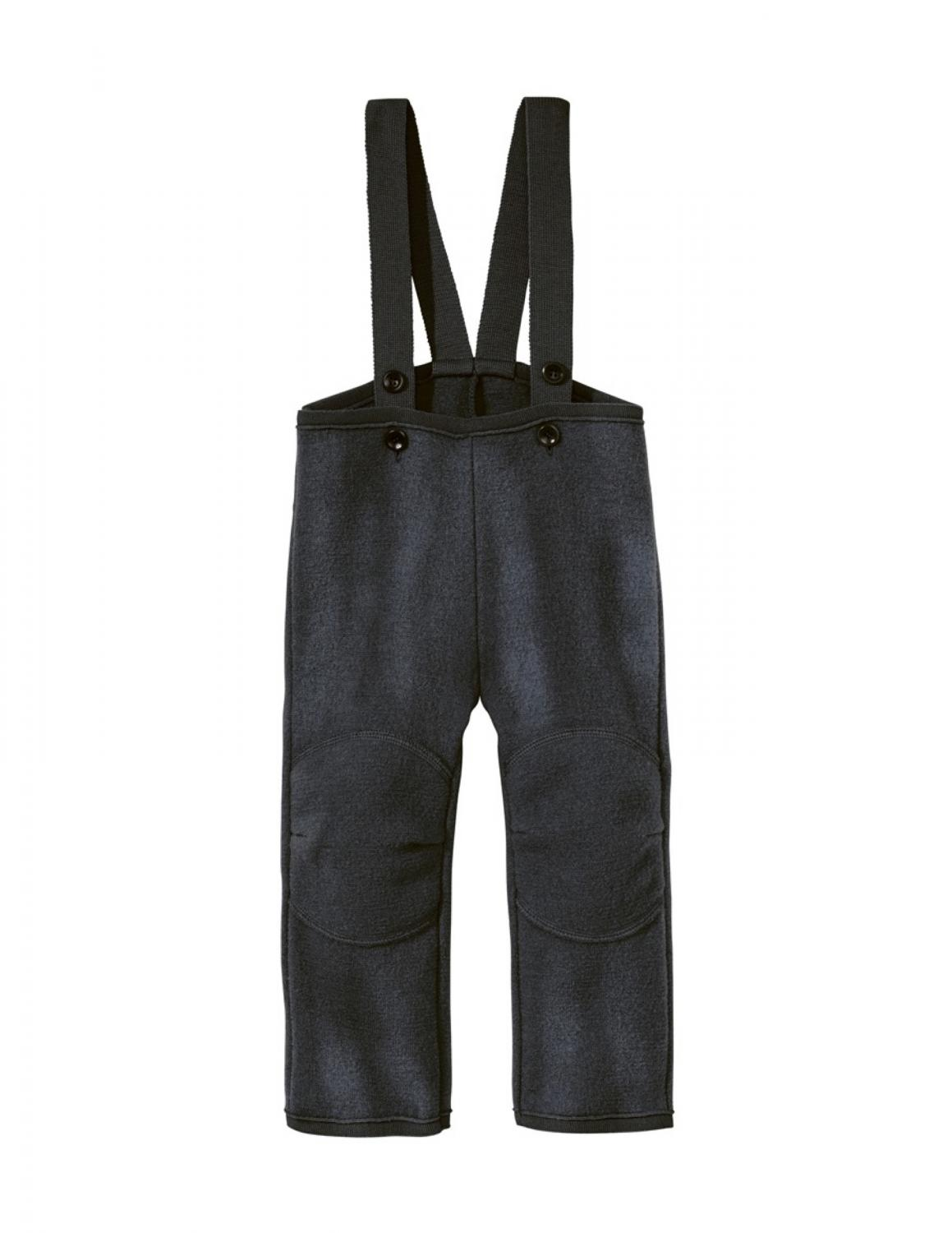 Anthracite Boiled Wool Trousers