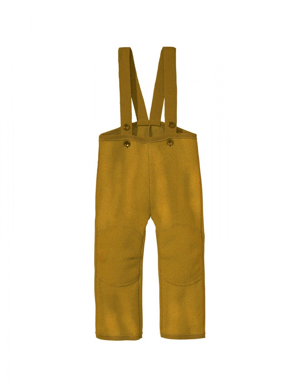 Gold Boiled Wool Trousers