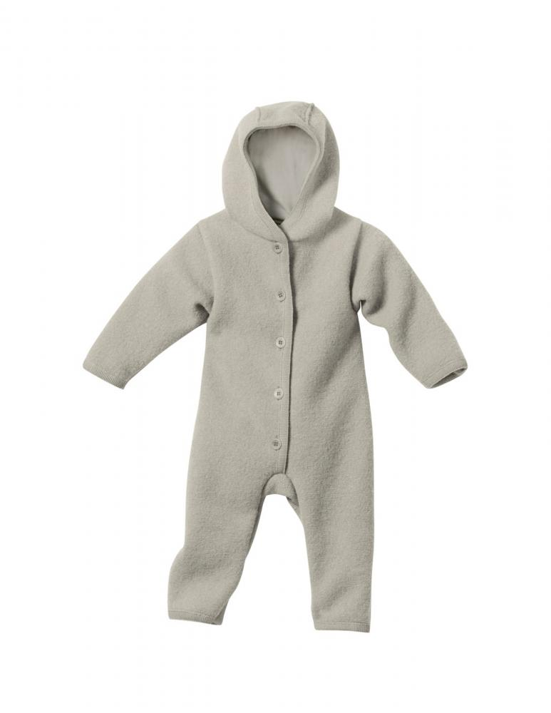 Grey Boiled Wool Overall