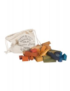 Rainbow Blocks in Sack - 50 Pieces
