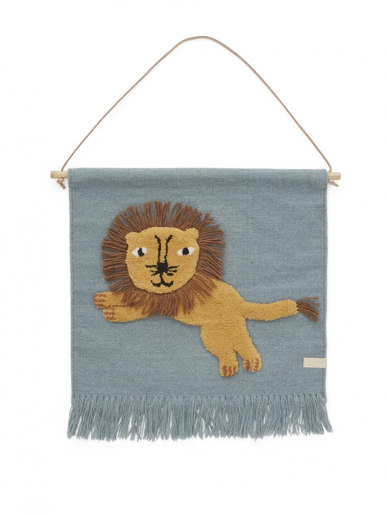 Jumping Lion Vägghänge