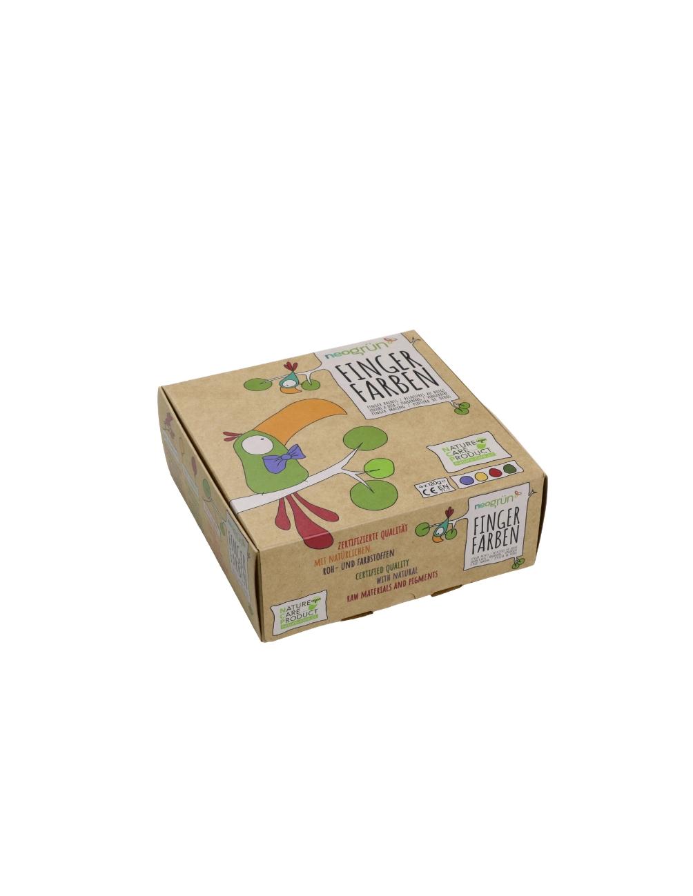 Fingerfärg Aki 4-pack
