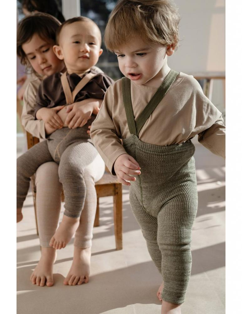 Footless Tights - Creamy Olive