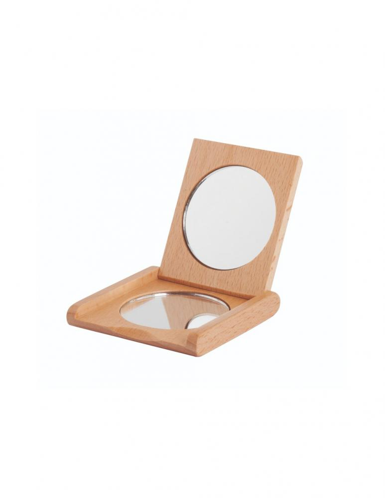 Pocket Mirror Beechwood