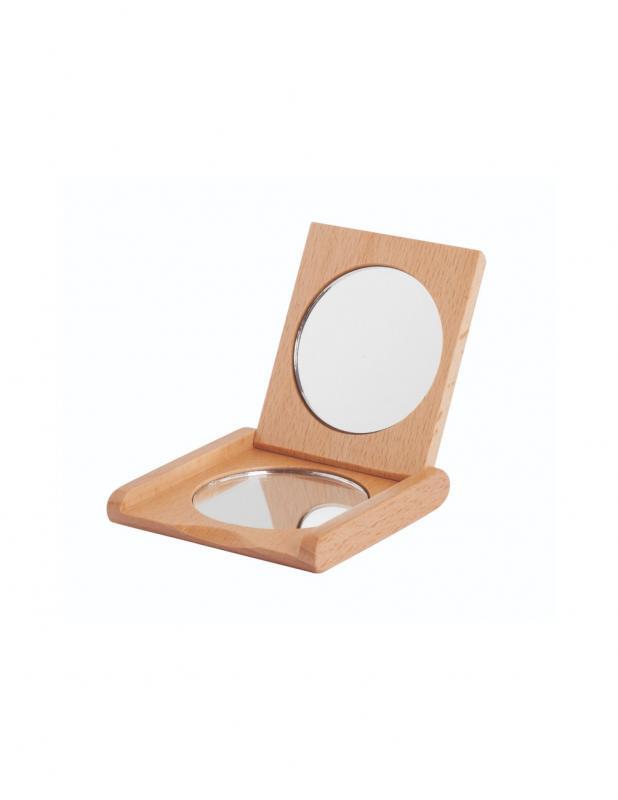 Pocket Mirror Beechwood