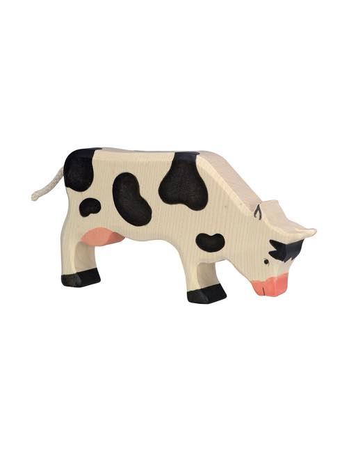 Cow Grazing Wood figure Holztiger