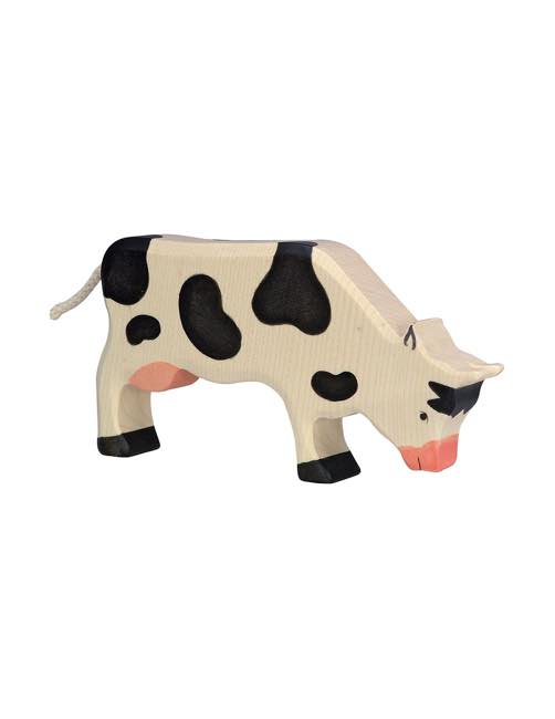 Cow Grazing Wood figure Holztiger