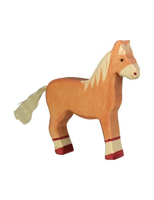 Stor Häst Träfigur Holztiger
