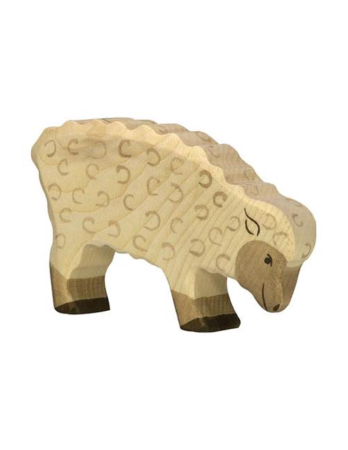 Sheep Grazing Wood figure Holztiger