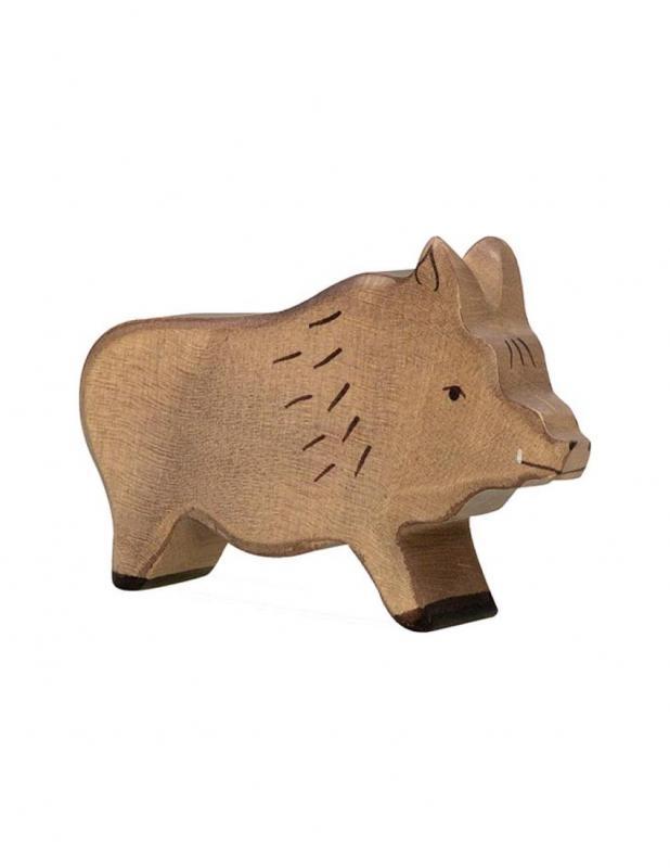 Wild boar Wood figure Holztiger