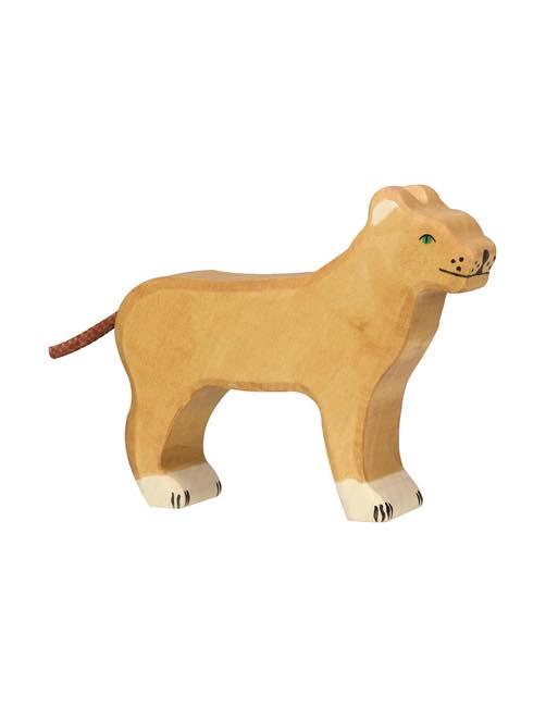 Lioness Wood figure Holztiger