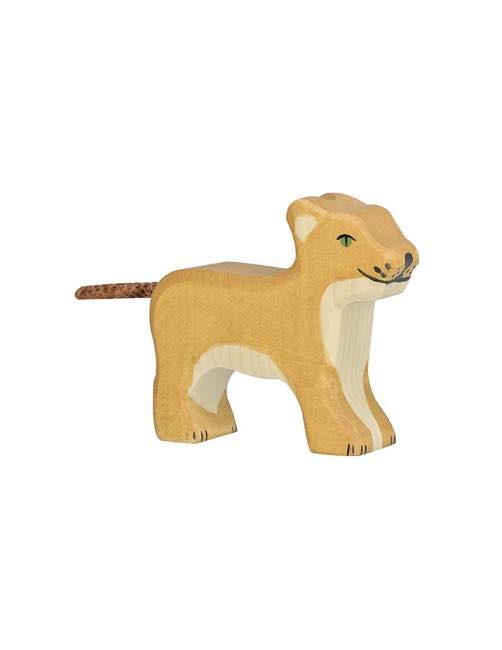 Small Lion Wood figure Holztiger