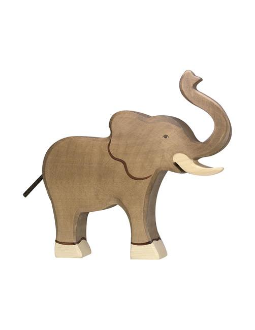 Liten Elefant Träfigur Holztiger