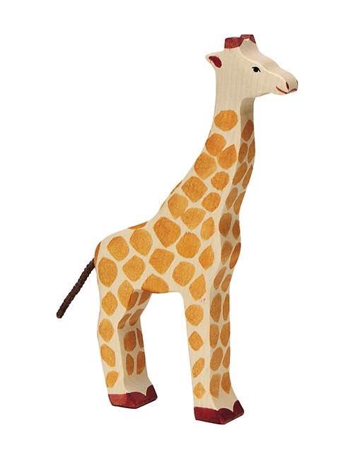 Stor Giraff Träfigur Holztiger