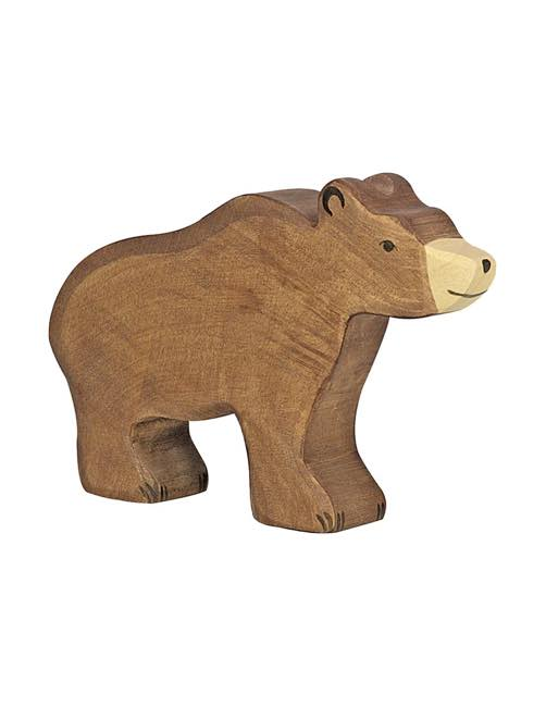Big Brown Bear Wood figure Holztiger