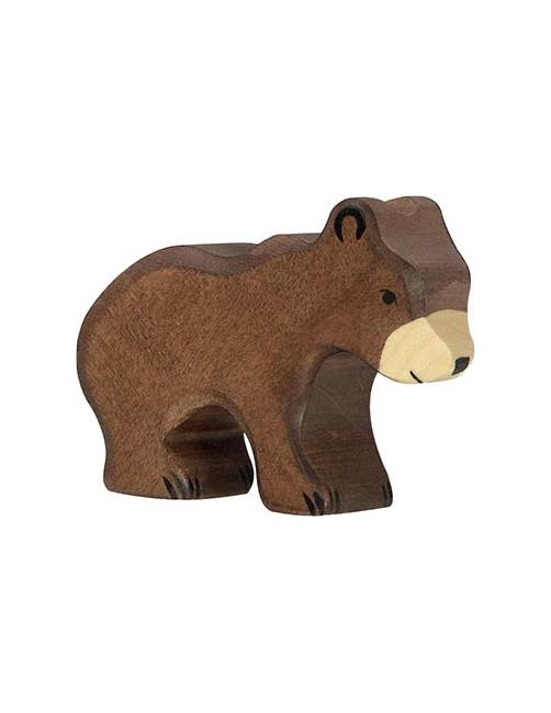 Small Brown Bear Wood figure Holztiger