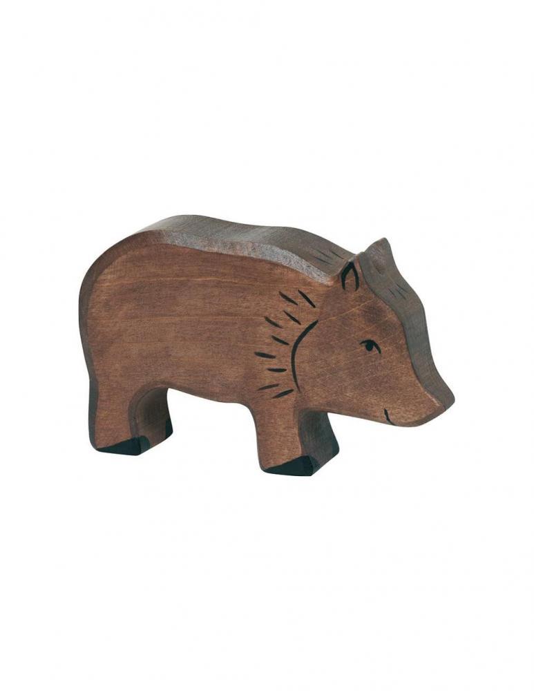 Wild boar piglet Wood figure Holztiger