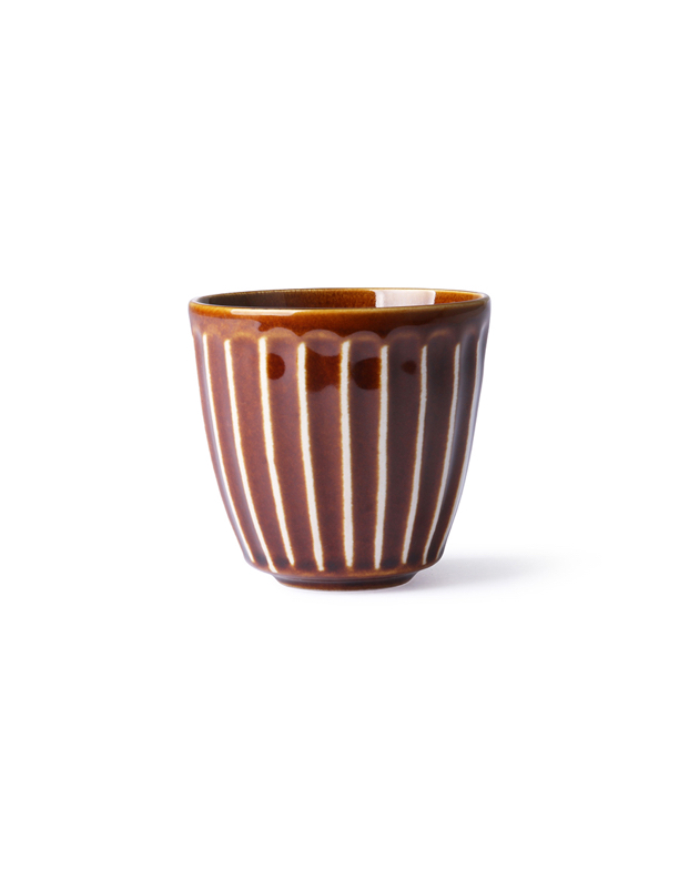 Kyoto Striped Brown Mug