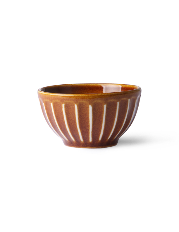 Kyoto Striped Brown Bowl