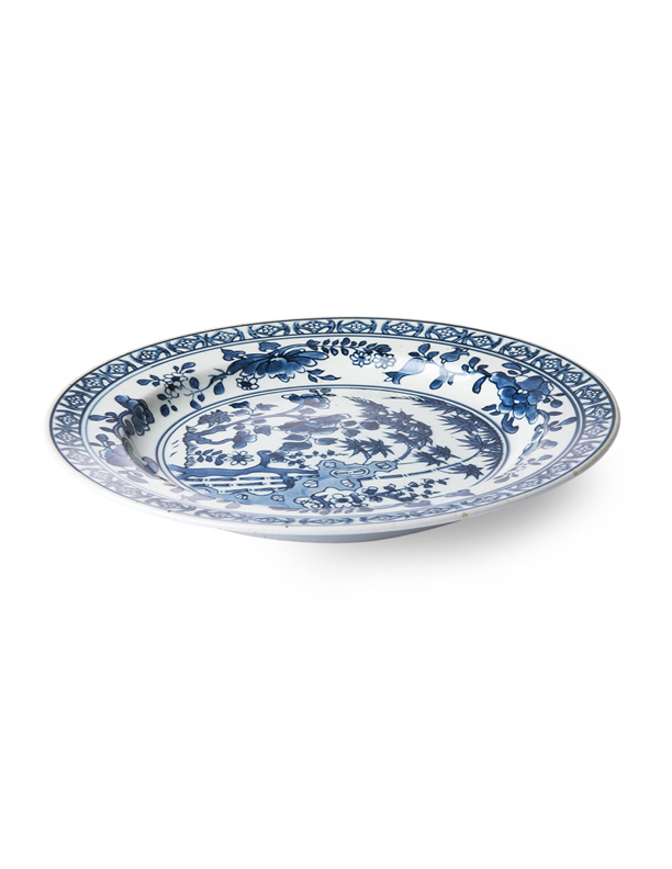 Kyoto Hand Painted Blue Plate