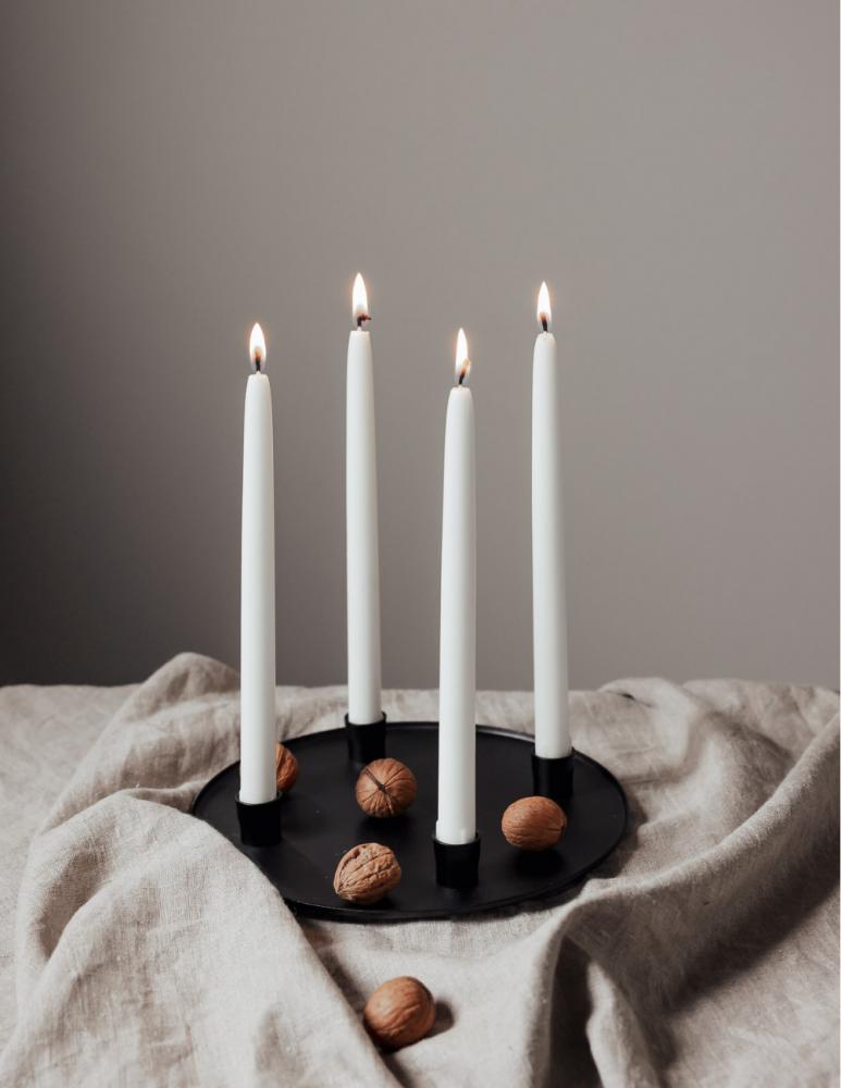 Advent Candlestick Black