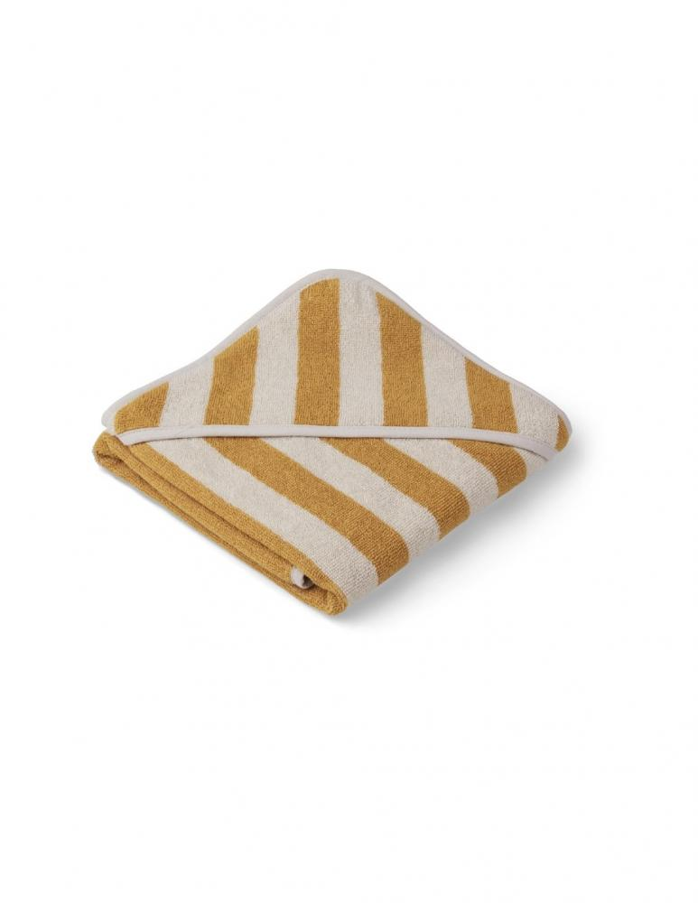 Alba Hooded Baby Towel Yellow Mellow/Sand