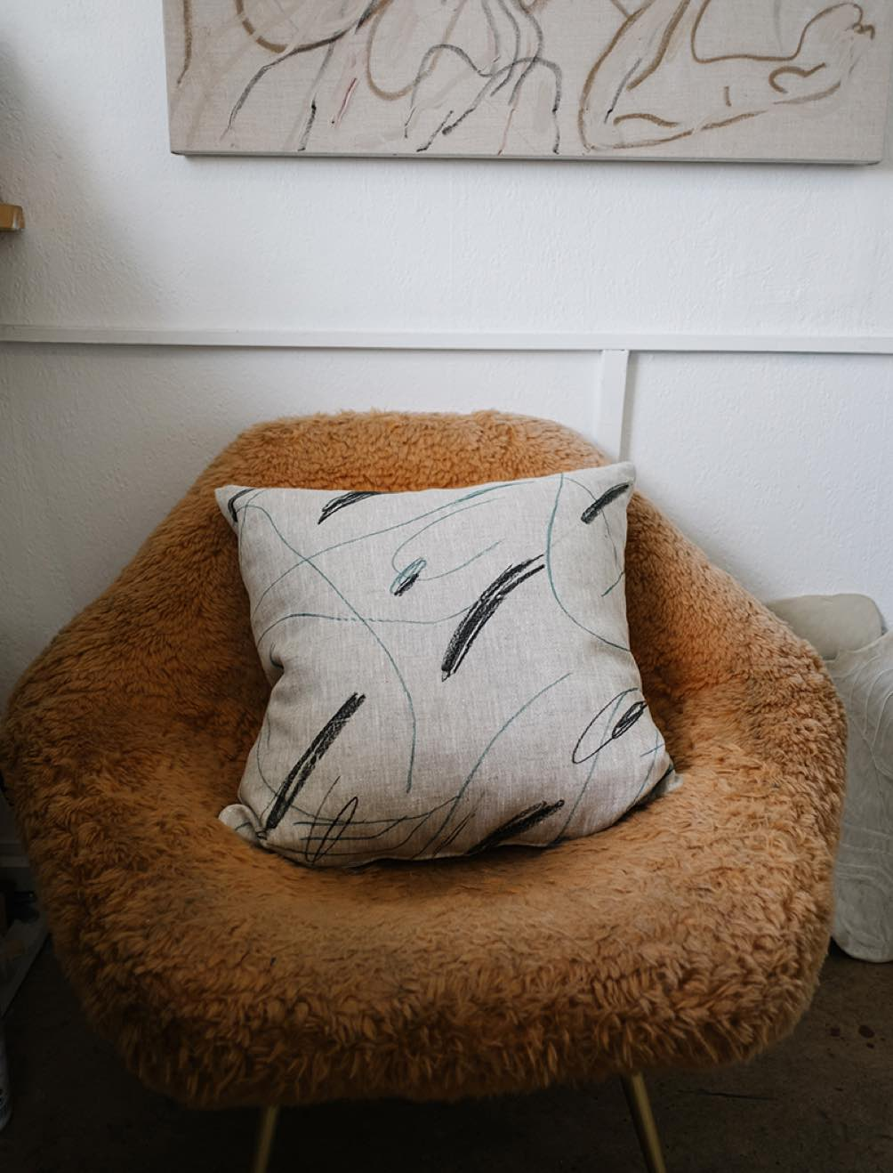 Green Alina Cushion Cover