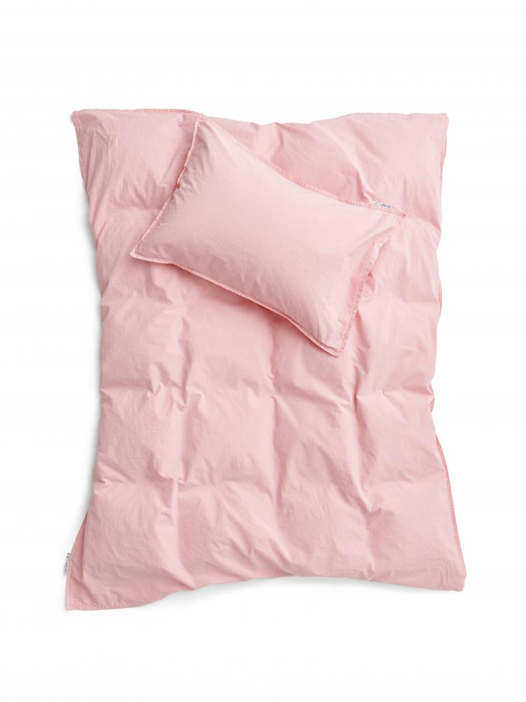 Baby Duvet Cover Crinkle Blush Pink
