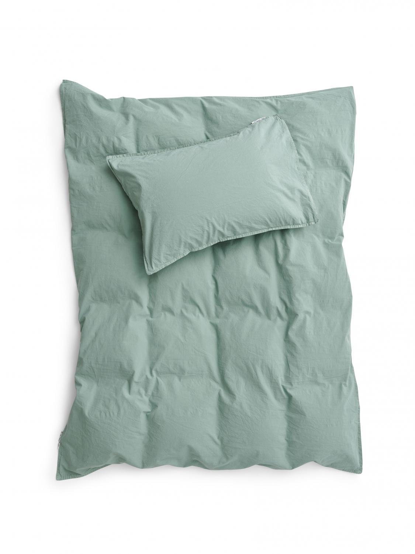 Baby Duvet Cover Crinkle Mineral Green