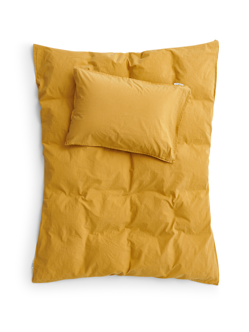 Baby Duvet Cover Crinkle Mustard Gold