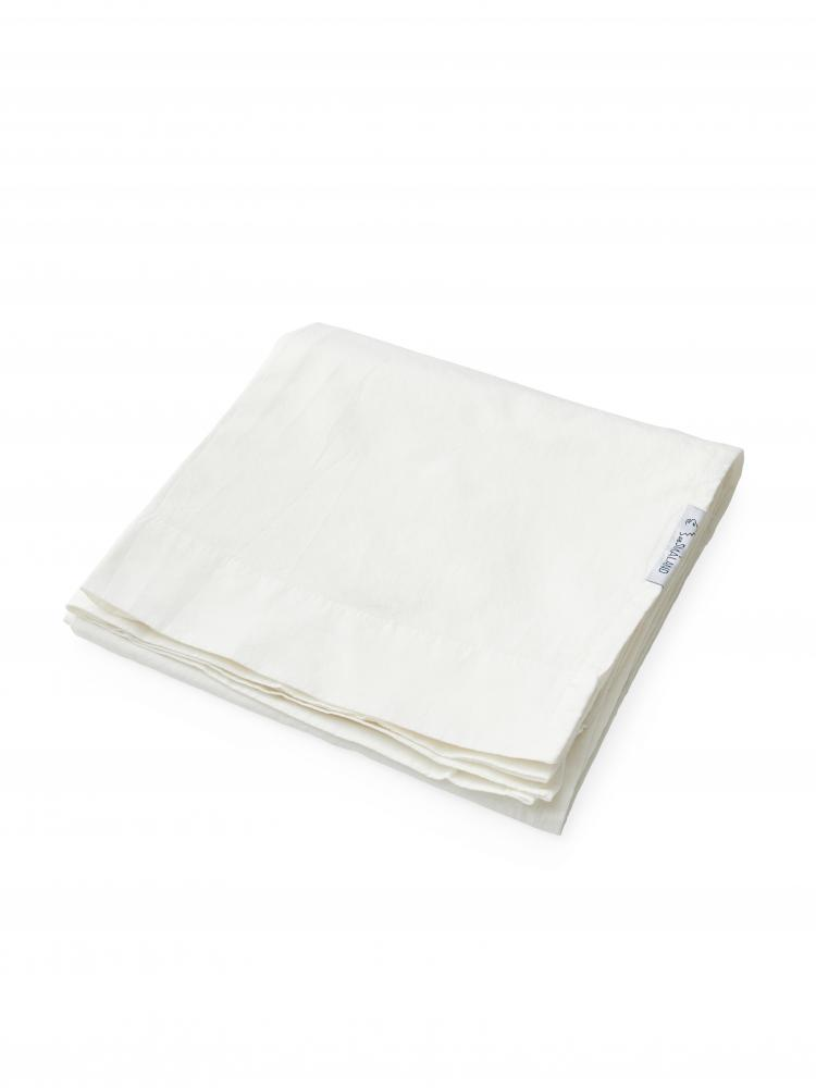 Baby Sheet Crinkle White