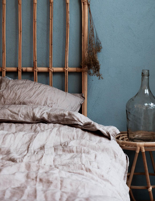 Duvet Cover Set Linen Light Grey
