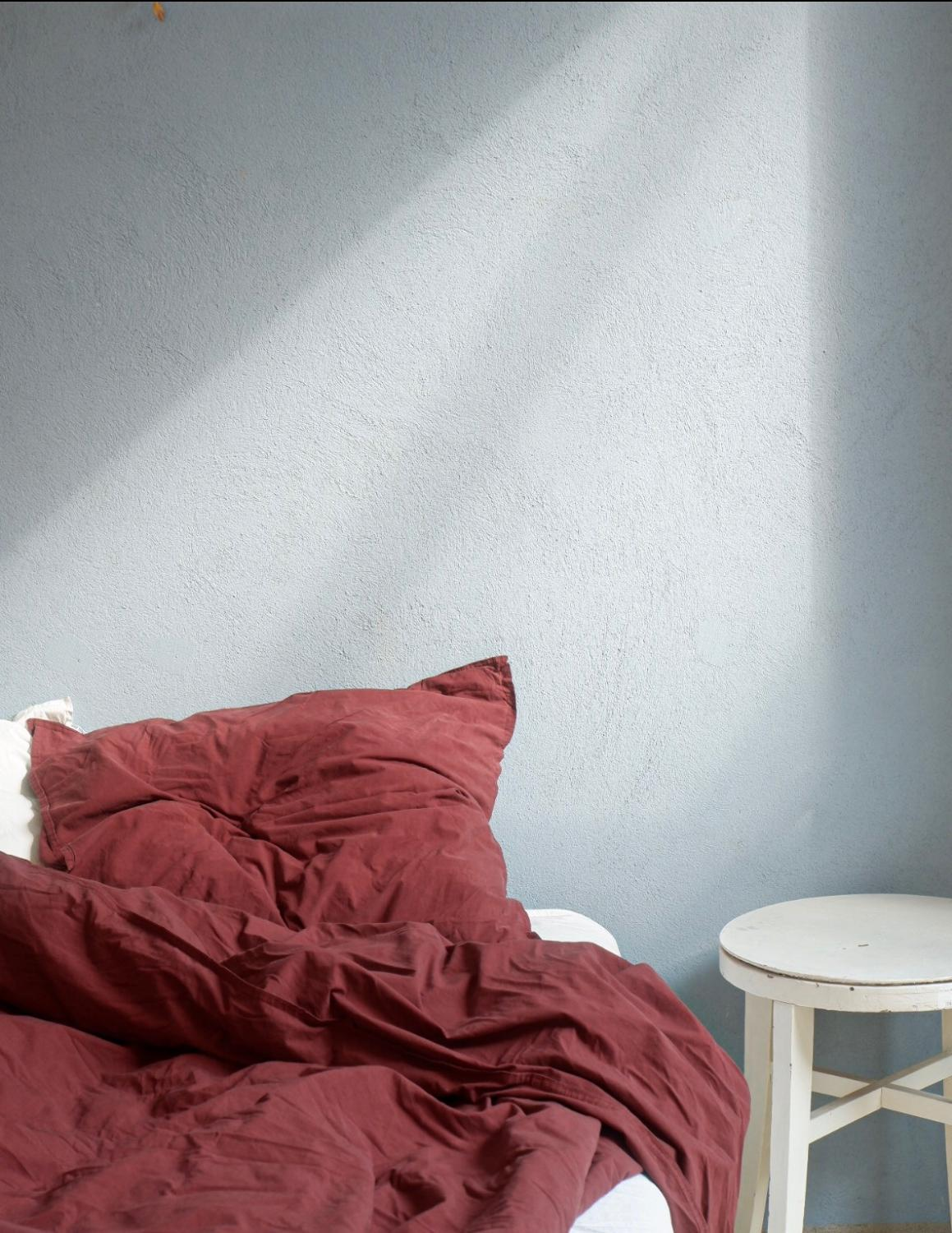Duvet Cover Set Crinkle Burgundy
