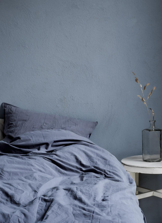 Duvet Cover Set Crinkle Dusty Blue