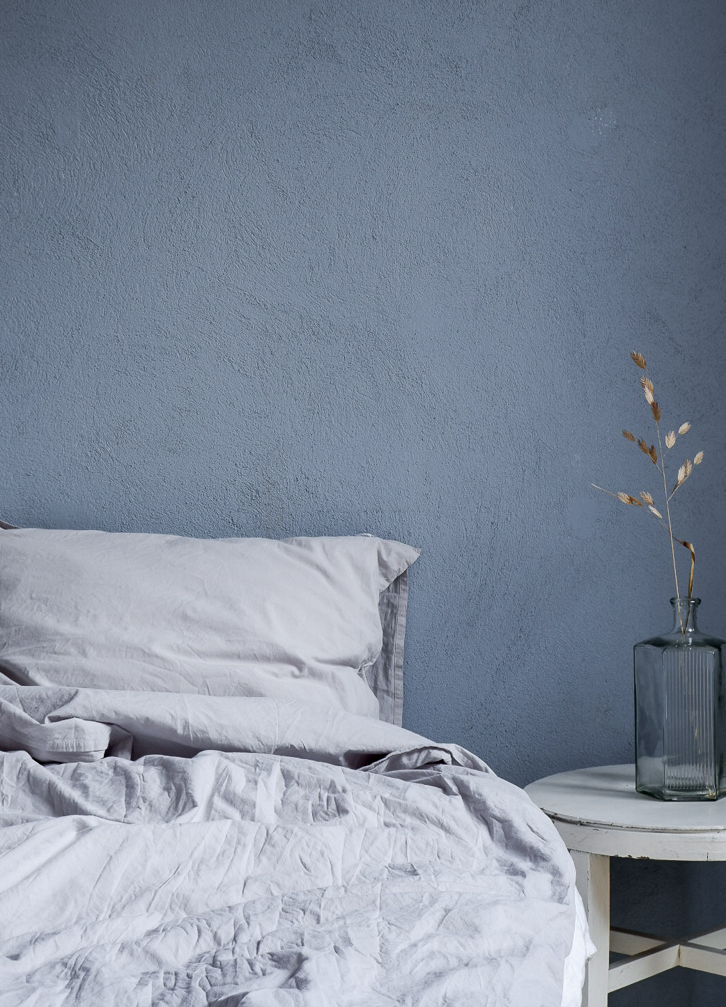 Duvet Cover Set Crinkle Light Grey