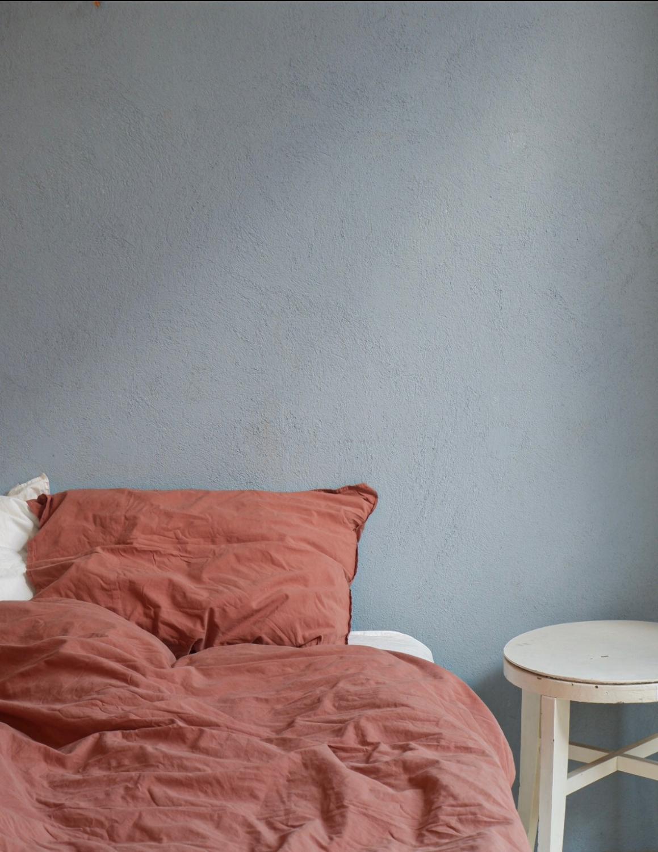 Duvet Cover Set Crinkle Terracotta