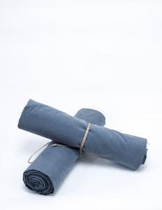 Baby Sheet Crinkle Dusty Blue