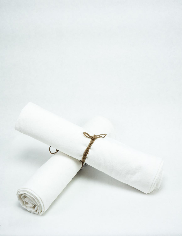 Baby Sheet Crinkle White