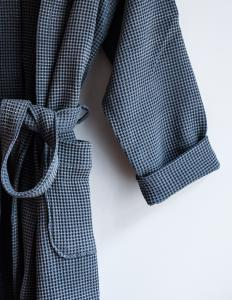 Waffle Bathrobe Dusty Blue