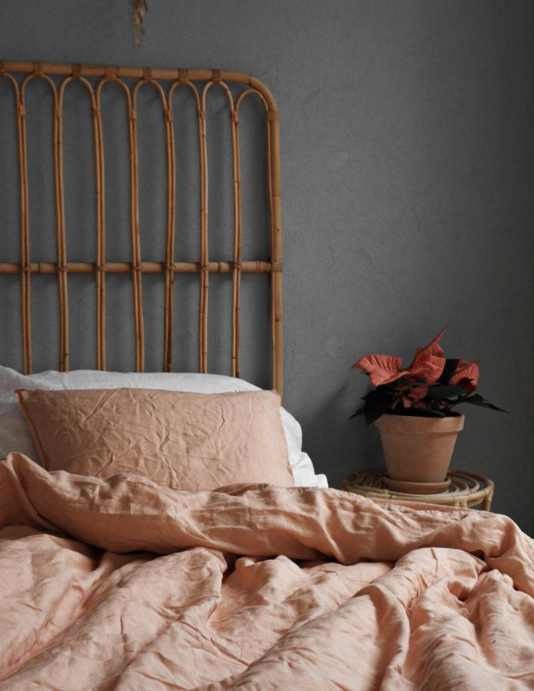 Duvet Cover Set Linen Peach Pink