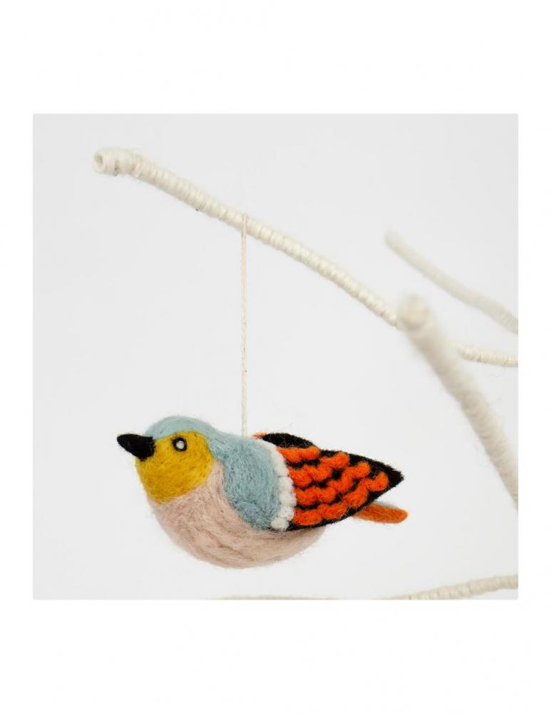 Bird Chaffinch Christmas Ornament